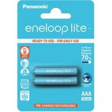 Аккумулятор PANASONIC Eneloop Lite AAA 550mAh NI-MH * 2 (BK-4LCCE/2BE)